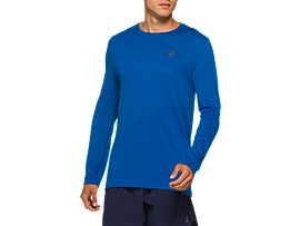 Front Top view of TOKYO SEAMLESS LS, TUNA BLUE