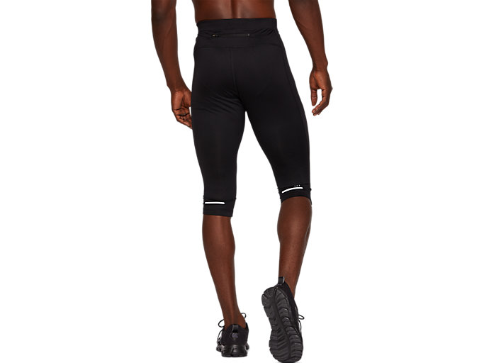 Back view of RUNNING KNEE TIGHT, PERFORMANCE BLACK
