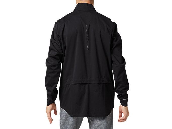 Back view of ランニングジャケット, パフォーマンスブラック