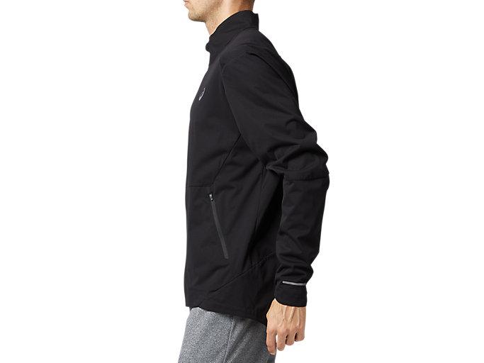 Side view of ランニングジャケット, パフォーマンスブラック