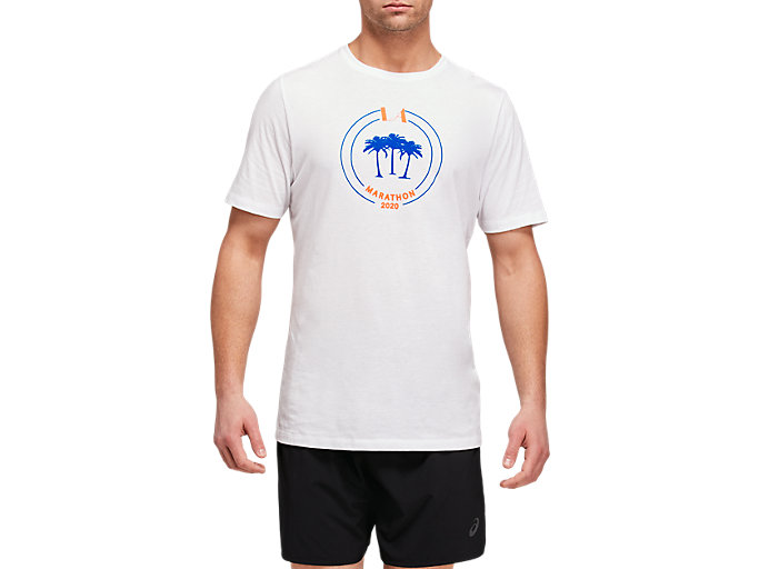 Front Top view of LA Marathon Crew Short Sleeve
