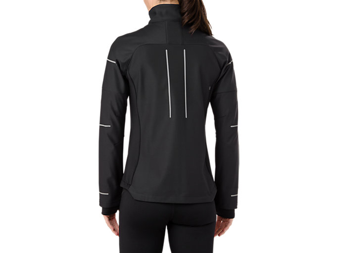 Back view of LITE-SHOW WINTERJACKE, PERFORMANCE BLACK