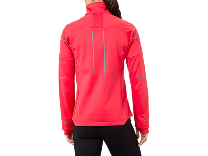 Back view of LITE-SHOW WINTER JACKET, RED ALERT