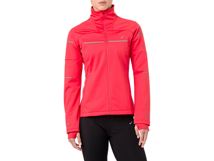 Front Top view of LITE-SHOW WINTER JACKET, RED ALERT