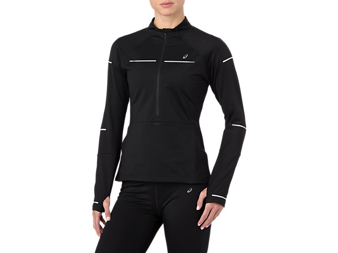 LITE-SHOW WINTER LS 1/2 ZIP TOP, PERFORMANCE BLACK