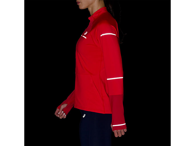 Alternative image view of LITE-SHOW WINTER LS 1/2 ZIP TOP, RED ALERT/SAMBA