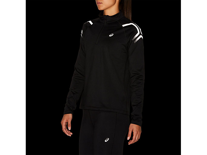 Alternative image view of ICON WINTER LS 1/2 ZIP TOP, PERFORMANCE BLACK