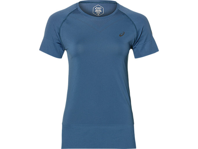 Front Top view of SEAMLESS SS TOP, AZURE