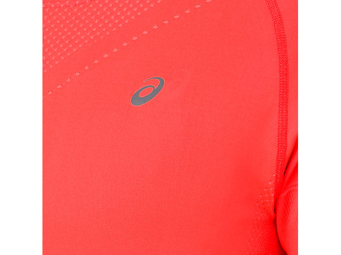 Alternative image view of SEAMLESS SS TOP, FLASH CORAL