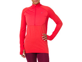 Front Top view of ASICS System Training Long Sleeve Shirt