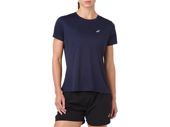 Women's SILVER SS TOP | PEACOAT | Short Sleeve Tops | ASICS