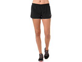 SILVER SPLIT SHORT, PERFORMANCE BLACK