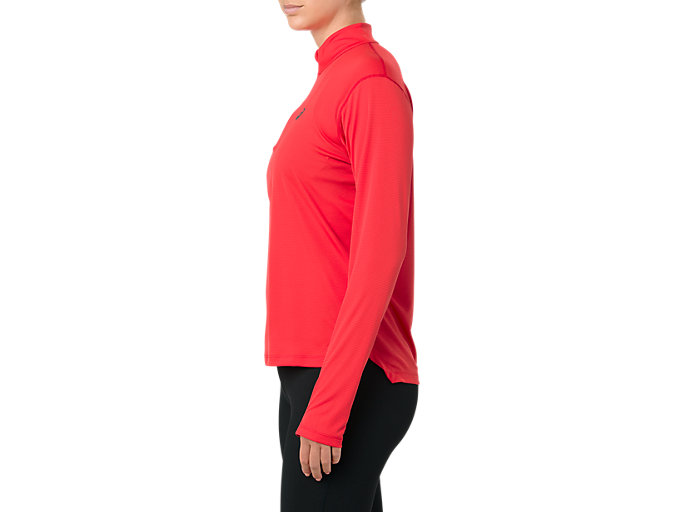 Alternative image view of SILVER LS 1/2 ZIP TOP, RED ALERT