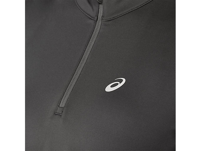 Alternative image view of SILVER LS 1/2 ZIP WINTER TOP, DARK GREY