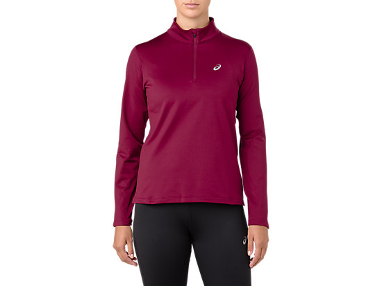 SILVER LS 1/2 ZIP WINTER TOP, CORDOVAN