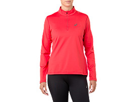 SILVER LS 1/2 ZIP WINTER TOP, RED ALERT
