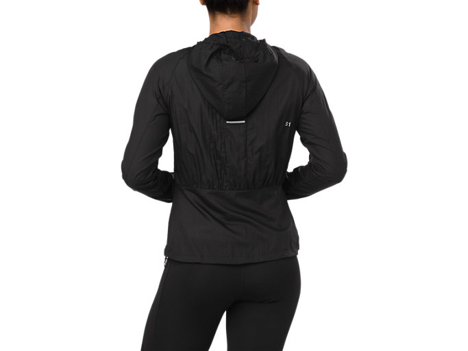 Back view of PACKABLE JACKET, PERFORMANCE BLACK
