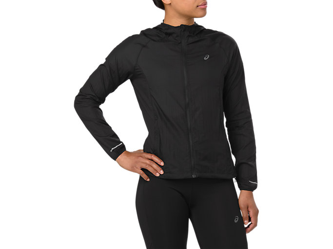 Front Top view of KOMPRIMIERBARE JACKE, PERFORMANCE BLACK