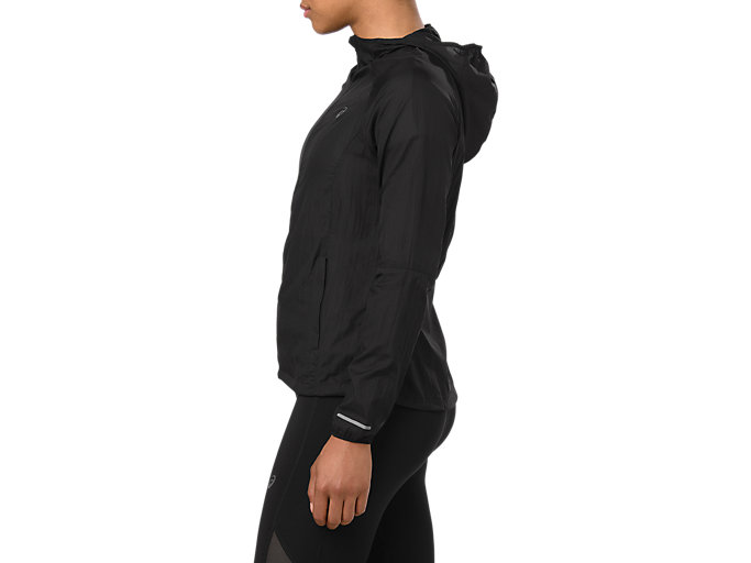 Side view of PACKABLE JACKET, PERFORMANCE BLACK