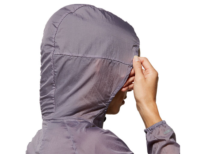 Alternative image view of VESTE REPLIABLE, LAVENDER GREY