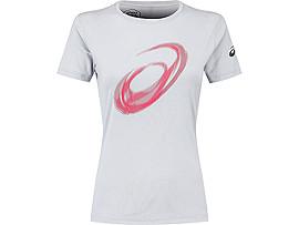 여성 스파이럴 반팔 티셔츠
