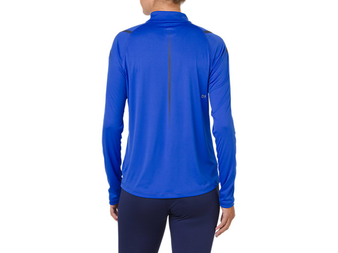 Back view of ICON LS 1/2 ZIP, ILLUSION BLUE/INDIGO BLUE