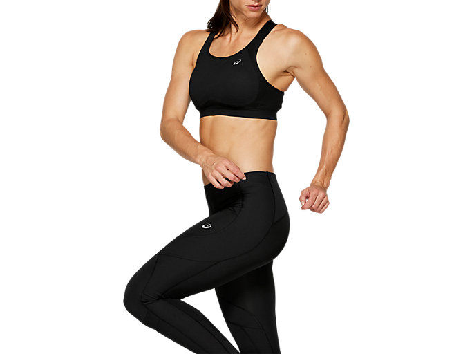 Side view of ZERO DISTRACTION BRA, PERFORMANCE BLACK