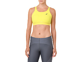 Front Top view of ZERO DISTRACTION BRA, LEMON SPARK