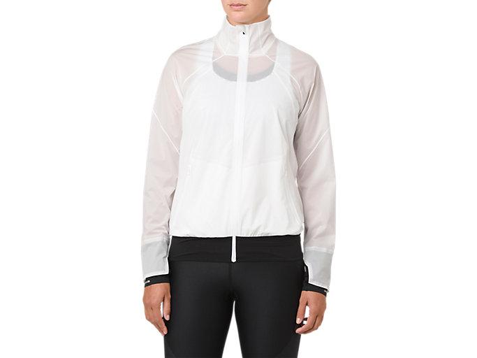 W'S METARUNランニングジャケット, ブリリアントホワイト