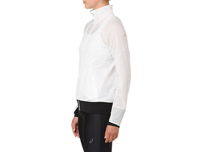 Side view of METARUN JACKET, BRILLIANT WHITE