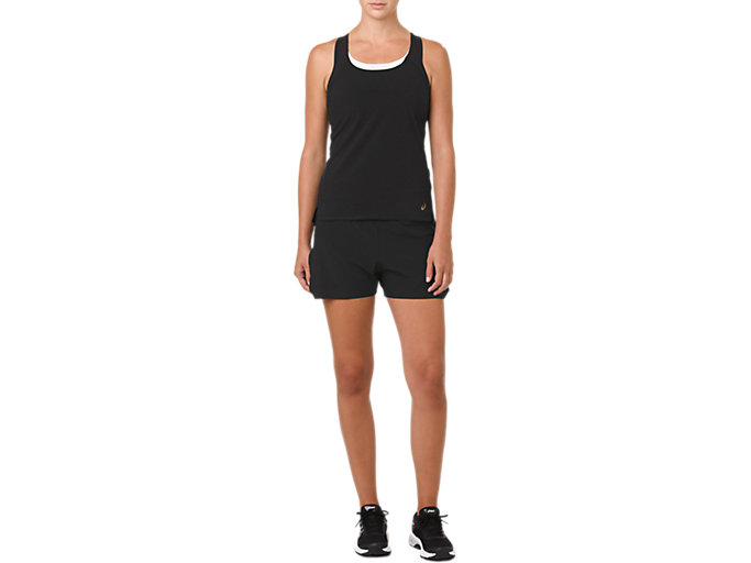 Front Top view of METARUN SINGLET, PERFORMANCE BLACK
