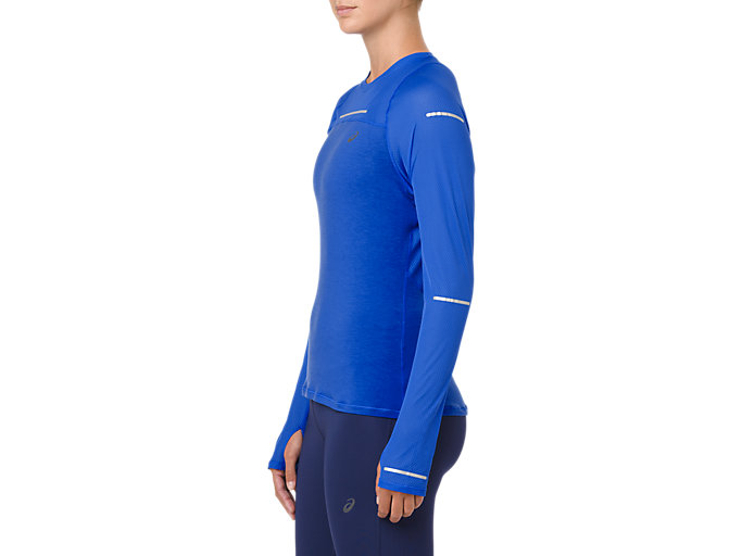 Side view of LITE-SHOW LONG SLEEVE, ILLUSION BLUE