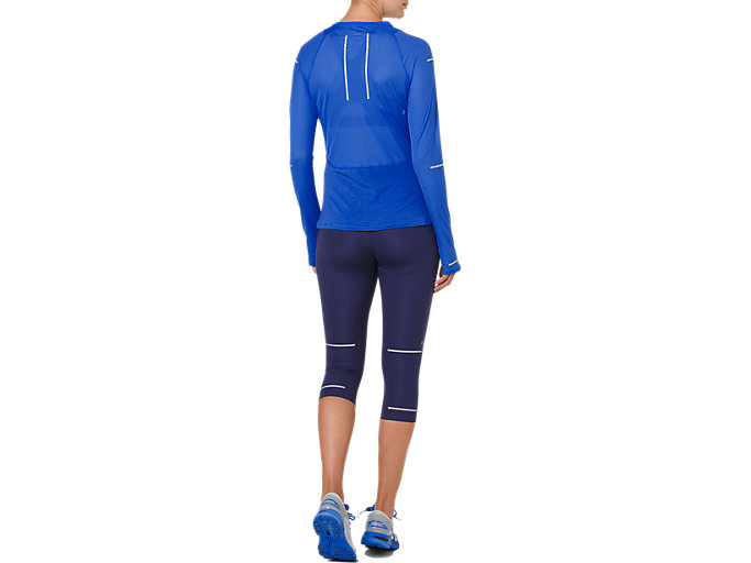 Back view of LITE-SHOW LONG SLEEVE, ILLUSION BLUE