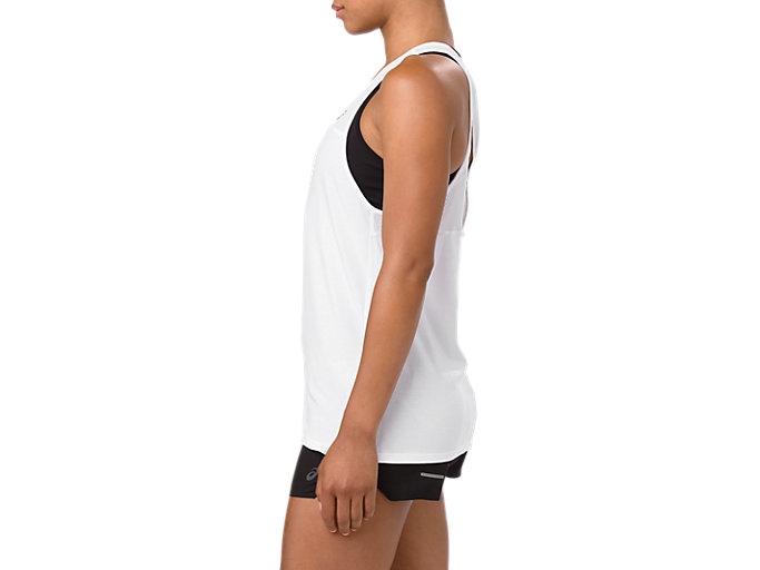 Side view of LOOSE STRAPPY TANK, BRILLIANT WHITE