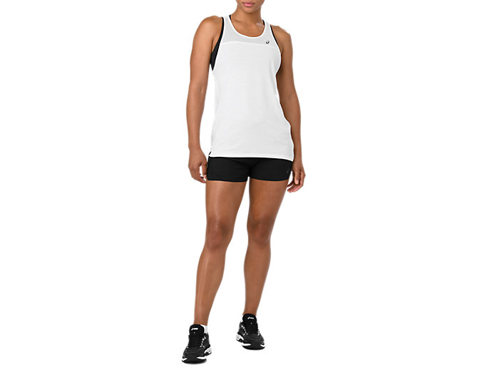 Front Top view of LOOSE STRAPPY TANK, BRILLIANT WHITE