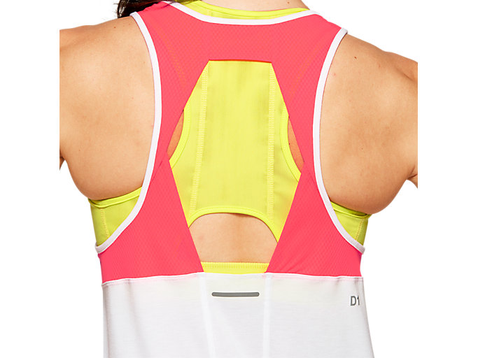 Alternative image view of LOOSE STRAPPY TANK, BRILLIANT WHITE / LASER PINK