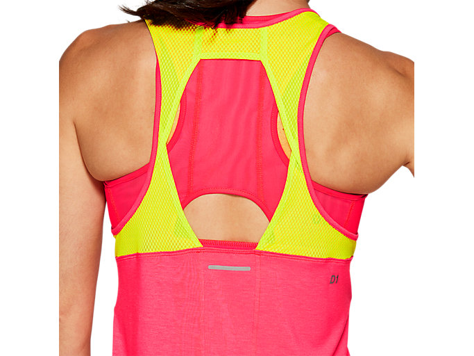 Alternative image view of LOOSE STRAPPY TANK, LASER PINK / SOUR YUZU