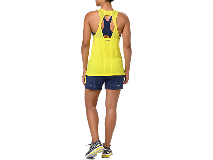 Back view of LOOSE STRAPPY TANK, LEMON SPARK