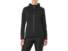 Front Top view of ACCELERATE JACKE, PERFORMANCE BLACK