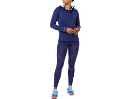 Front Top view of ACCELERATE JACKE, INDIGO BLUE