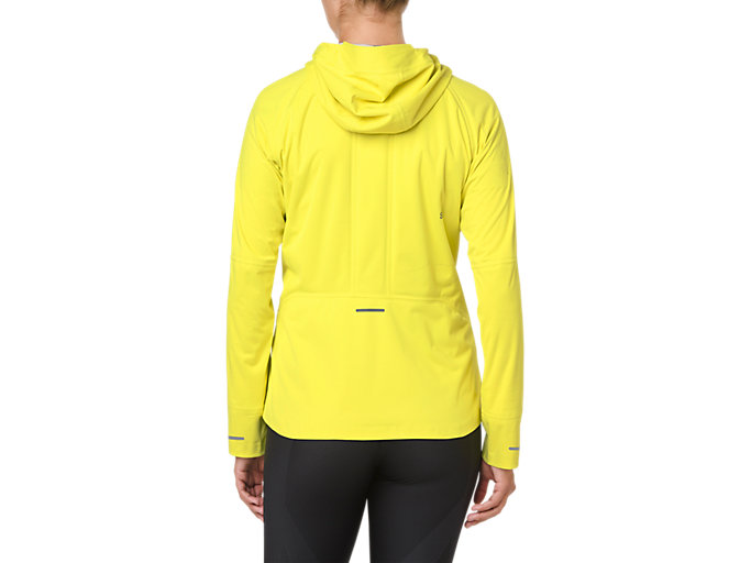 Back view of ACCELERATE JACKET, LEMON SPARK