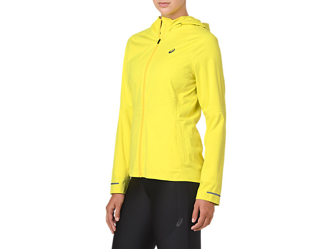 Side view of ACCELERATE JACKET, LEMON SPARK