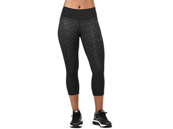 CAPRI TIGHT PRINT, AOP HEX FADE PERFORMANCE BLACK