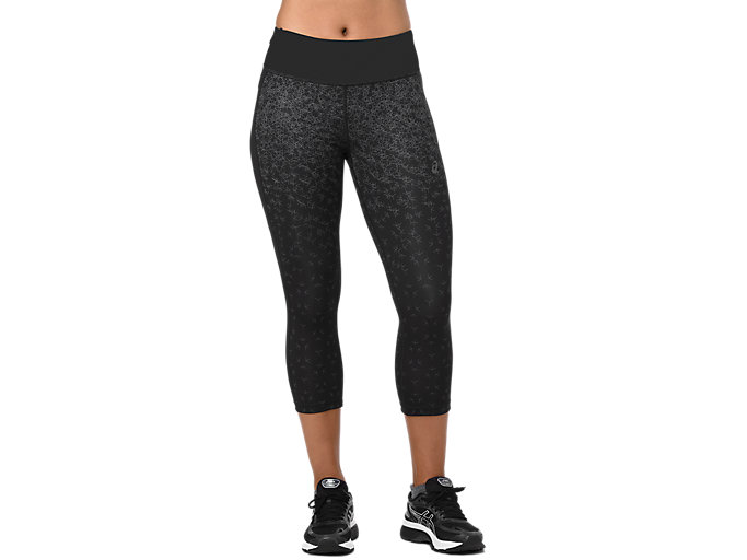 Women's CAPRI TIGHT PRINT | AOP HEX FADE PERFORMANCE BLACK ...