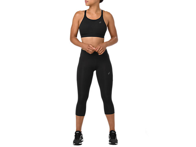 Front Top view of CAPRI TIGHT, PERFORMANCE BLACK