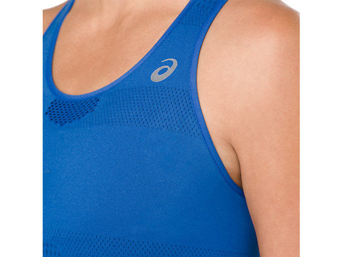 Alternative image view of COOLING SEAMLESS BRA, ILLUSION BLUE/INDIGO BLUE
