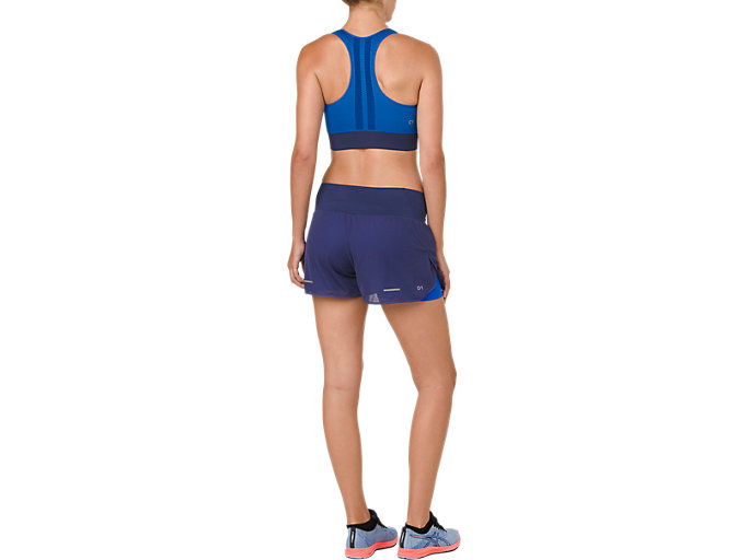 Back view of COOLING SEAMLESS BRA, ILLUSION BLUE/INDIGO BLUE