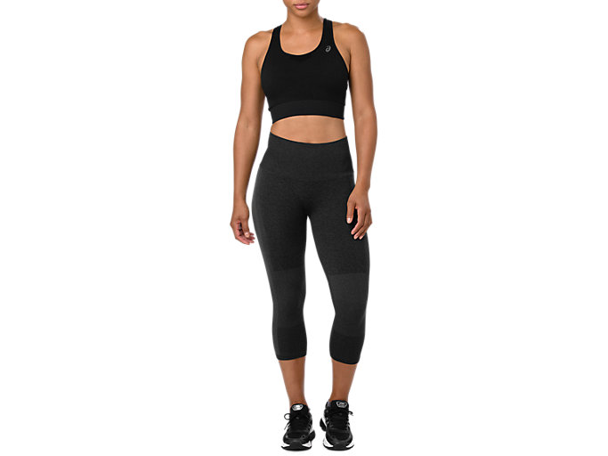 Front Top view of COOLING SEAMLESS CAPRI, PERFORMANCE BLACK