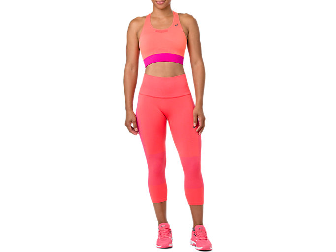 COOLING SEAMLESS CAPRI, FLASH CORAL