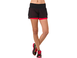 Front Top view of COOL 2-IN-1-SHORTS, MP PERFORMANCE BLACK